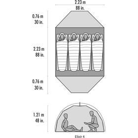 MSR Elixir 4 V2 Tente, grey